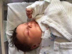 Calm hypnobirthing baby